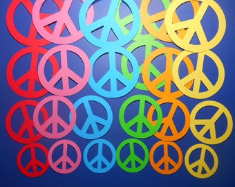 Peace Sign Paper Die Cuts Sizes 3
