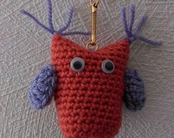 Orange and purple OWL Keyring