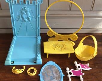 Vintage My little pony Dream castle accessories 1980s