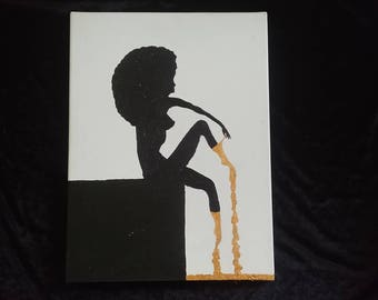 Dipped in Gold Original Canvas Piece