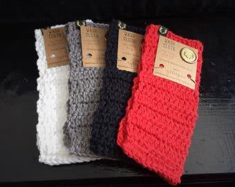 Crochet 100% Cotton Wash Cloth Washcloth - Great Gift!