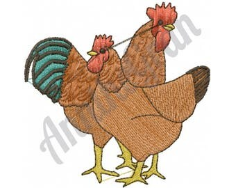 Chickens - Machine Embroidery Design