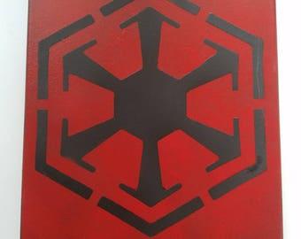 Sith Empire Star Wars Spray Paint Canvas