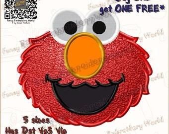 Elmo applique embroidery design, machine embroidery design, embroidery designs. Instant download, 5 sizes, 8 formats #2034