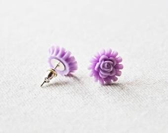 Lavender Floral Earrings