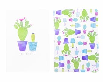 Cacti Notebook Set Blue A6