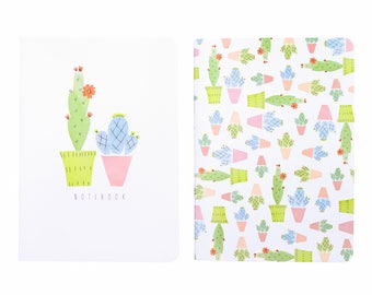 Cacti Notebook Set Yellow A6