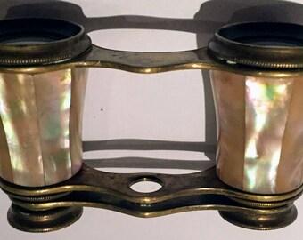 Opera Binoculars Mother of Pearl Paris Antique