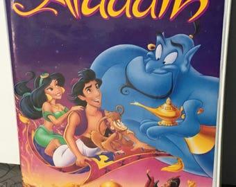 Vintage Rare Disneys Aladdin Movie on VHS Black Diamond Edition