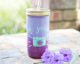Photographer Gift- Photographer Tumbler- Photography GIft- Camera- Oh Snap- Camera Tumbler- Photography Tumbler- Wedding Photography