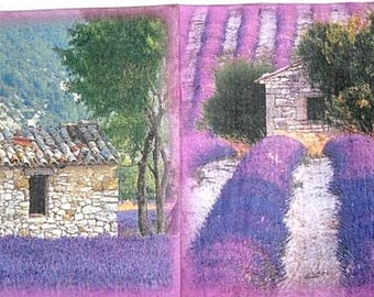 Lavender field 2 paper towel