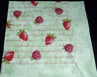 Red paper towel