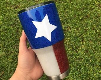 Texas Glitter Tumbler