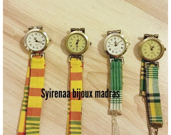 Wristwatches women fabric madras