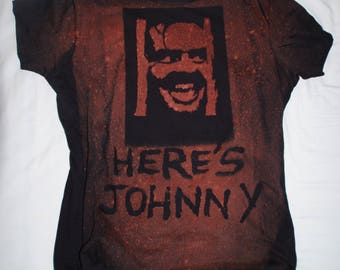 Here's Johnny! The Shining Bleached T-shirt