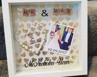 Gorgeous wedding gift, wedding, photo frame, Personalised