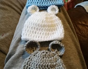 Newborn teddy hats
