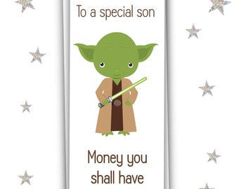 Yoda Money Wallet For Son/Xmas Gift/Money Card/Christmas Gift Wallet/Free UK Shipping