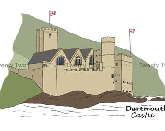 Dartmouth Castle Canvas