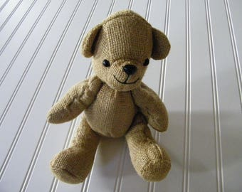 Jointed Burlap teddy bear