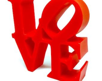 Handmade Red Philadelphia NYC Love Sign Cake Topper