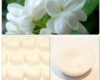 Jasmine floral scented soy wax melts, highly scented wax, strong wax melts, cheap wax melts, wholesale wax melts, soy candles, scented wax