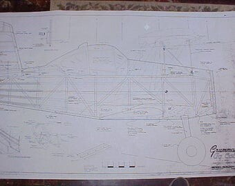 Grumman AG Cat Model Airplane Plan 88 Inch Wing Span