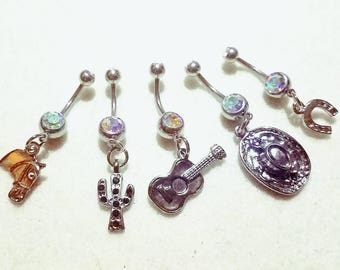 Country-themed Belly Rings