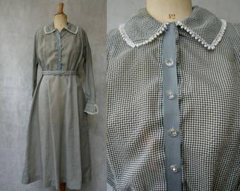Late 1920s Black&White Gingham Dress