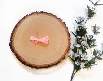 Velvet Bow || Blush Pink