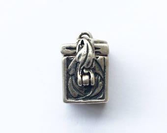 Sterling Silver Box Charm