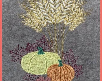 Machine embroidery applique Thanksgiving in 5 sizes, pumpkins, Thanksgiving, embroidery design, machine embroidery, embroidery,