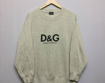 Vintage Dolce And Gabbana D&G Sweatshirt Size L Big Spell Out