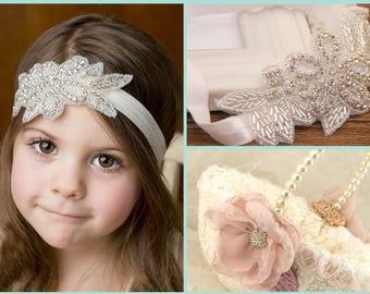 Pretty Rhinestone Headband - Bride Bridesmaid Flower Girl