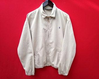 vintage polo ralph lauren fully zipper jacket medium mens size
