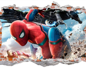 Spiderman Wall Sticker, Wall Decal Graphic