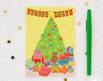 "Map postcard illustration ""Christmas tree"""