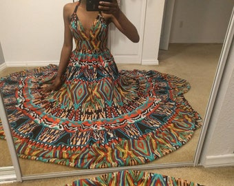 Women's colorful summer dress