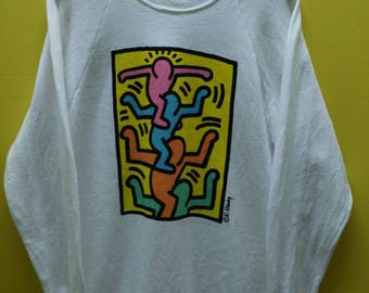 Vintage Keith Haring Pop Art Sweatshirt Rare Andy Warhol