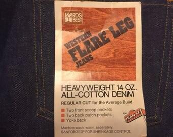 Vintage deadstock montgomery ward jeans!! 1970s