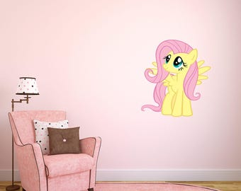 Fluttershy My little pony Full Color Wall Sticker Decal Bedroom Horse Art