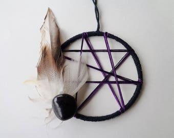 Healing Crystal Decor, Crystal, Reiki Holistic Gift, Dreamcatcher, Wall Hanging, Reiki Art, Family Healing, Healing Boho Dream Catcher