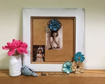 Pic Clip Clothespin Hinge Decorative Wood Flower Picture Frame / Memo Memorandum Board Clipboard To Do List Recipe Note Display
