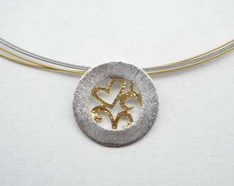 M 403 Handmade sterling silver necklace
