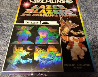 Gremlins Lazer Blazers 3D Holographic Stickers - Vintage 1984 - Never Opened!