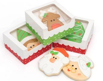 Sweet Sugarbelle Holiday Single Cookie Boxes 3pk, Cookies, Royal Icing,