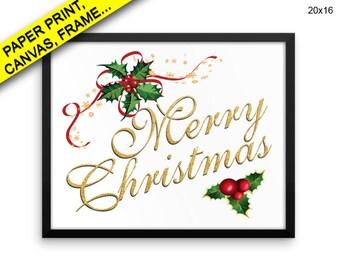 Merry Christmas Printed Poster Merry Christmas Framed Merry Christmas Christmas Art Merry Christmas Christmas Print Merry Christmas Canvas