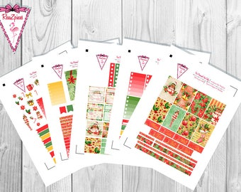 Christmas Joy (chocolate skin tone) - Printable Happy Planner Weekly Kit w/Cut Line