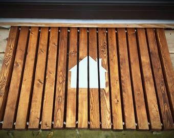 Wood doormat | Etsy