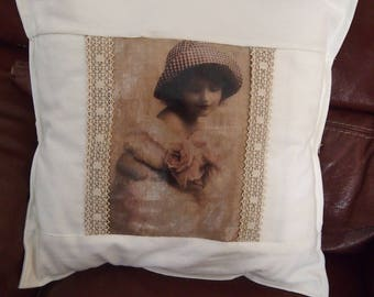 Vintage pillow and lace